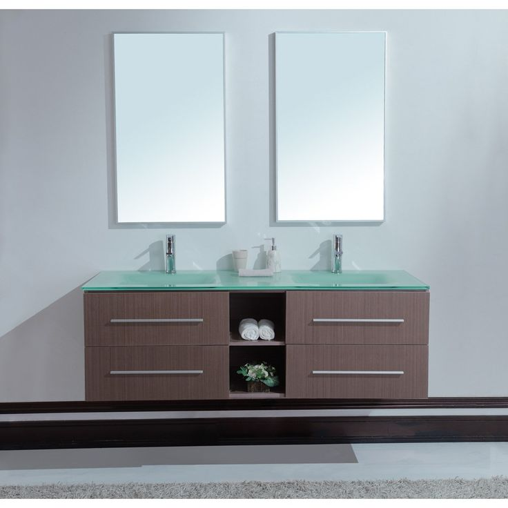 Calypso 60 Inch Modern Double Sink Bathroom Vanity