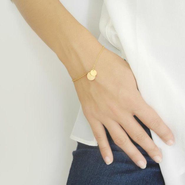 Vergoldete Armbänder - JUDY - Armkettchen - ein Designerstück von Frl_Mueller bei DaWanda