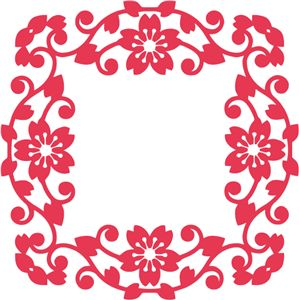Silhouette Online Store: ornate floral border