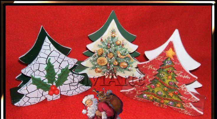 Pinheirinhos de Natal - porta guardanapos