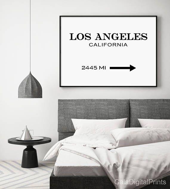 Los Angeles Print Los Angeles Sign LA Modern Print LA