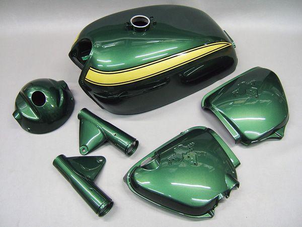 CB750 K1 PAINTED BODY SET (VALLEY GREEN METALIC) [G002VG] - 125,000 JPY(1067.76 USD) : HONDA CB750 Four K-series motorcycle parts store MOTORCYCLE YAMIYA
