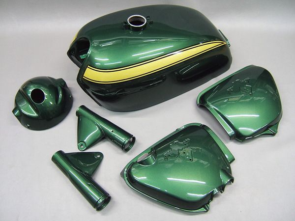 CB750 K1 PAINTED BODY SET (VALLEY GREEN METALIC) [G002VG] - 125,000 JPY(1067.76 USD) : HONDA CB750 Four K-series motorcycle parts store MOTORCYCLE YAMIYA