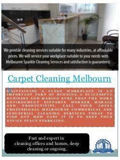 """""""Carpet Steam Cleaning Melbourne"""" published by @Vacate_Cleaning on @edocr"""