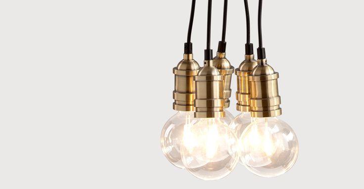 Starkey Cluster Pendant Light, Brass