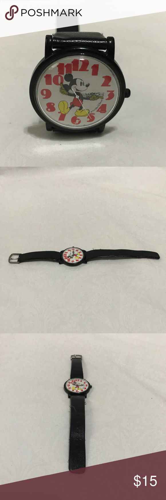 Vintage Mickey Mouse wristwatch Lorus Disney This is a vintage Mickey Mouse watch made by lorus. Currently not running, most likely due to battery. Vintage Accessories Watches