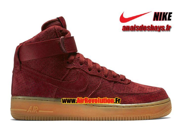 Boutique Officiel Nike Wmns Air Force 1 Suede Hi Femme/Enfant Rouge équipe/Gomme marron/Rouge équipe 749266-600