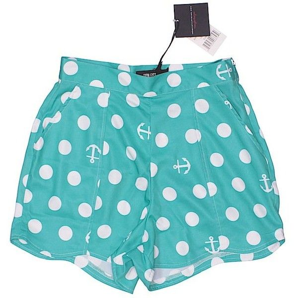 Iron Fist Shorts (14 AUD) ❤ liked on Polyvore featuring shorts, teal, teal shorts and iron fist