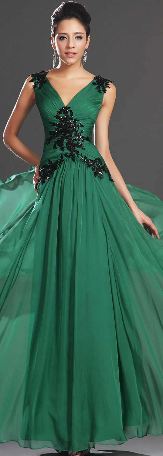 14 best Vestidos images on Pinterest   Models, Clothes and Green dress