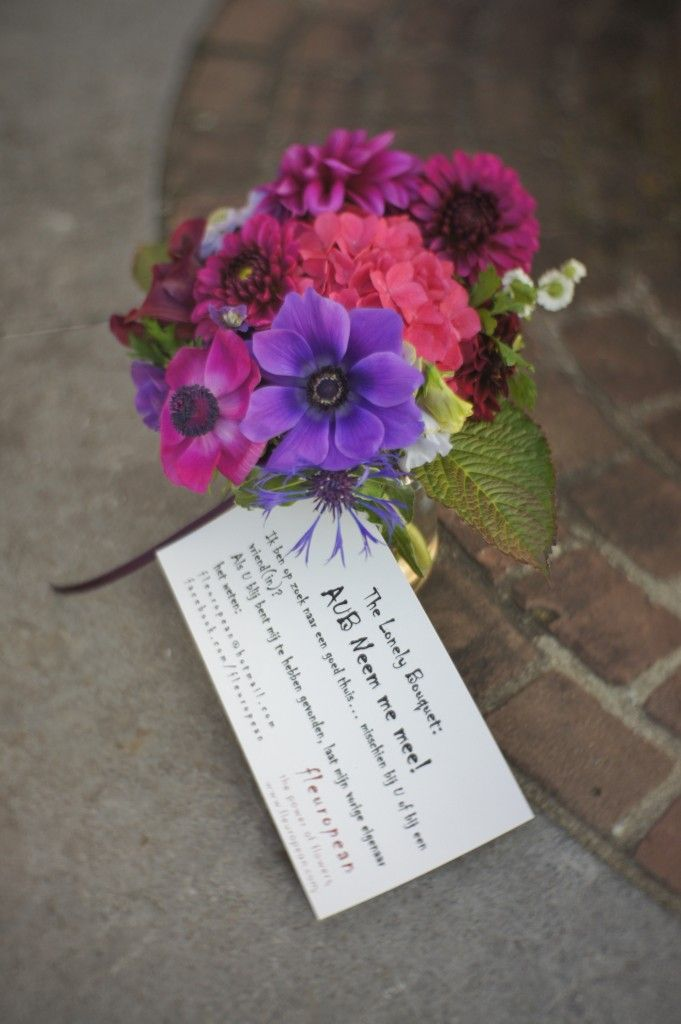 The Lonely Bouquet. This is a beautiful idea.