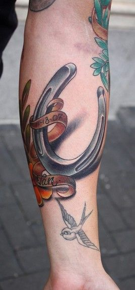 Image detail for -Paradise Tattoo Gathering Tattoos Realistic Horse Shoe Tattoo Design ...