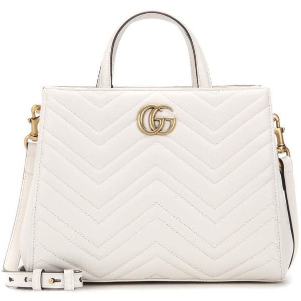 Gucci Gg Marmont Small Matelassé Tote 1 890 Liked On Polyvore Featuring Bags Handbags White Purse T