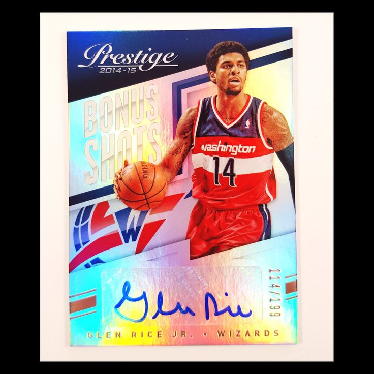 Glen Rice Jr. Autograph Basketball Card (2014-15 Panini Prestige)