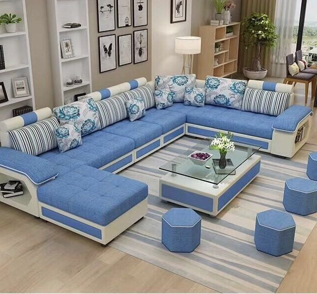 Wholesale Factory Wholesale Fabric U Shaped Sectional Sofa Modern European Style Wash Living Room Sofa Set Living Room Sofa Design Modern Living Room Sofa Set