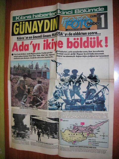 Harita, Gazete ve Afişlerle Kıbrıs Barış Harekatı | Tarihi Keşfet !