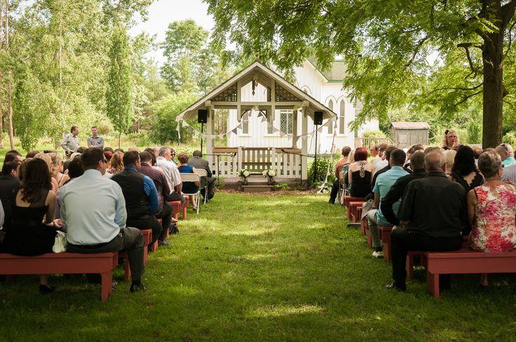 Outdoor rustic wedding.