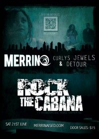MERRIN ROCK THE CABANA: We've got a gig at the iconic Cabana Bar in Napier, June 21st - you should come on down if you're roaming the neighborhood :) #Rock #Napier