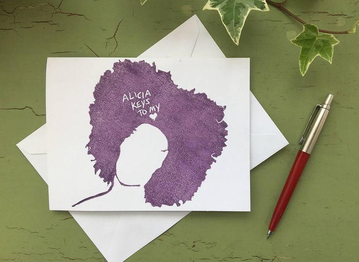 Alicia Keys to my Heart - Birthday, Valentines Greeting Card by Wonderfulicious on Etsy