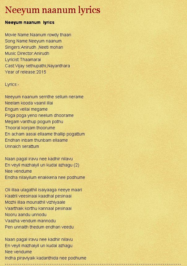 Lyric naan movie song lyrics : 101 best Songs lyrics... images on Pinterest | Lyrics, Music ...