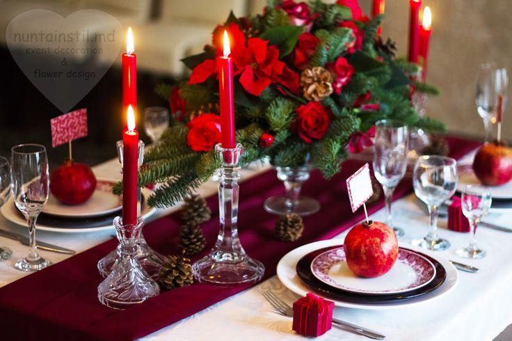 Nunta de iarna cu element de rodii - Зимняя гранатовая свадьба