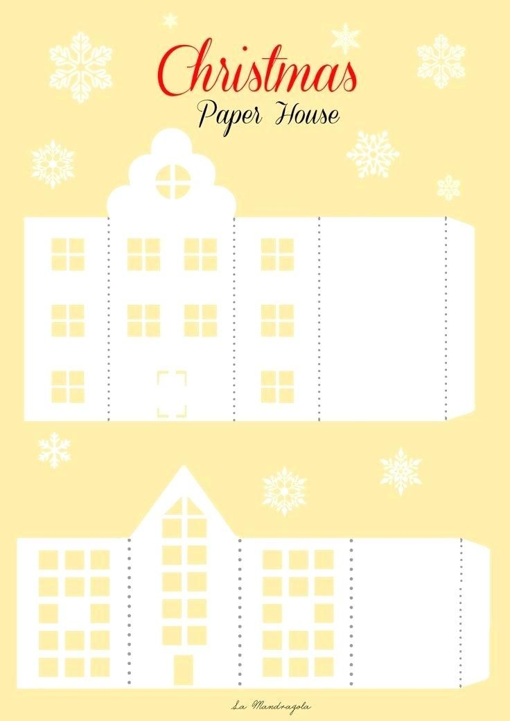 Printable Paper House Patterns Template Gingerbread Houses Free