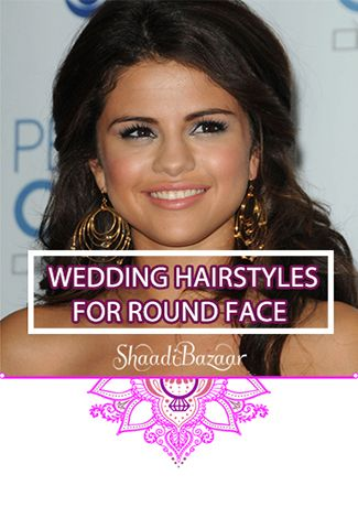 Choose from these #hairstyles if you're a #bride with round face #indianwedding #shaadibazaar #wedding