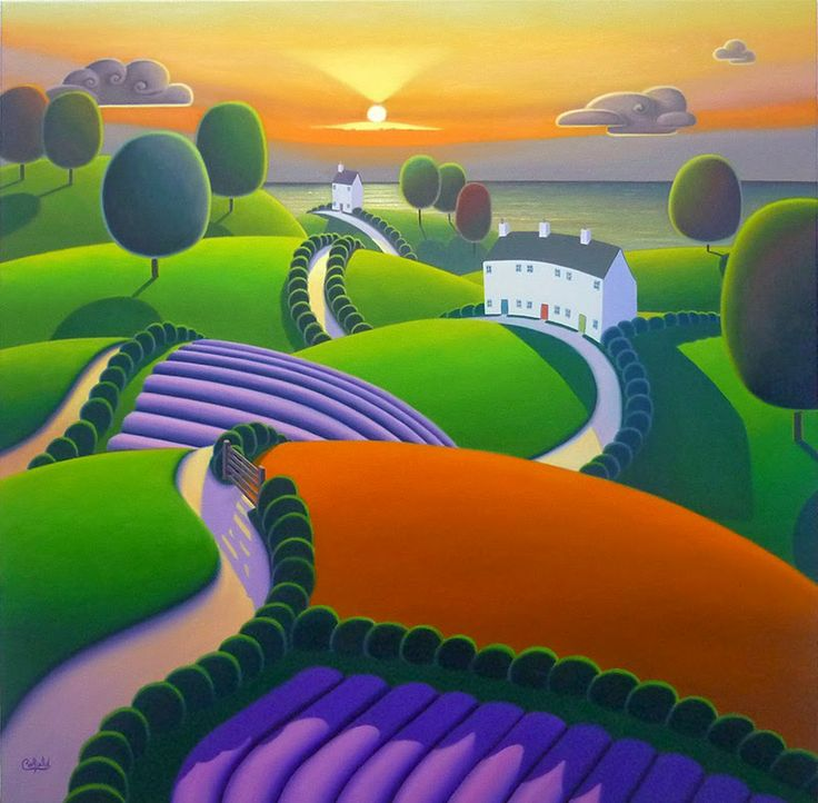 "Paul Corfield Evening's Golden Veil version 2 (Private commission) - 24"" x 24"""