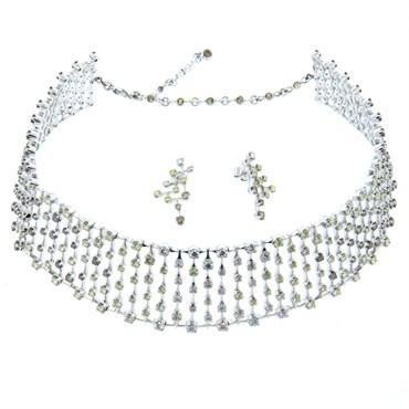 H. Stern World 23.43ctw Diamond 18k Gold Necklace and Earrings