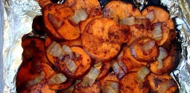 Cinnamon Bacon Backyard Sweet Potatoes