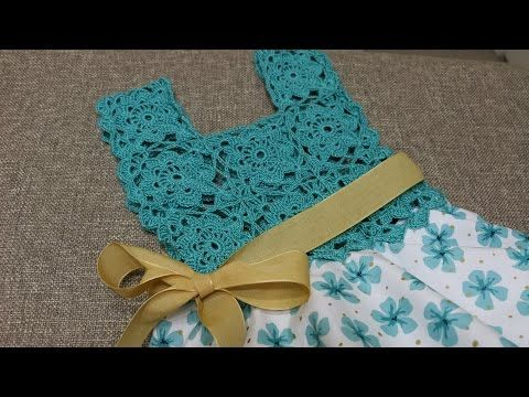 Vestido Circular con Blusa Tejida a crochet para niña | PatronesMil