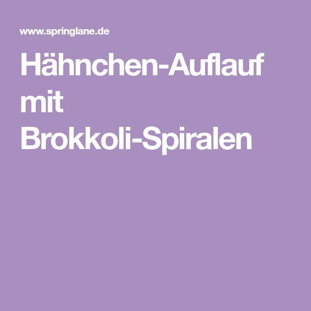 Hähnchen-Auflauf mit Brokkoli-Spiralen
