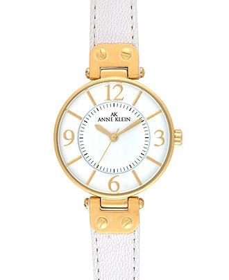 Anne Klein Watch, Women's White Leather Strap 10-9168WTWT - Women's Watches - Jewelry & Watches - Macy's: Anne Klein Watch, Shops, Brown Leather, Black Leather, Watches, Watch Women, Products