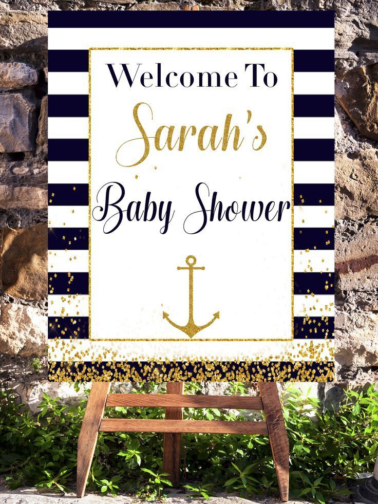 Nautical Theme Baby Shower Welcome Sign