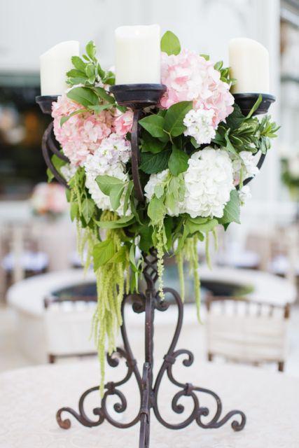 Wedding centerpieces flower arrangements hydrangeas