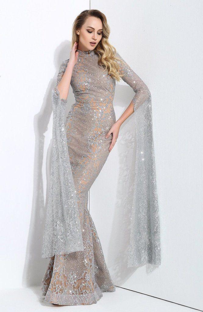 aba366ff5ce Queen Of The Night Silver Glitter Fishtail Maxi Dress – Fashion Genie  Boutique USA