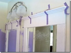 How to frame a mirror with mdf & crown molding...idea for windows too