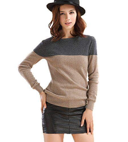 Betti Charm Womens Spring Slash Neck Cashmere Sweater