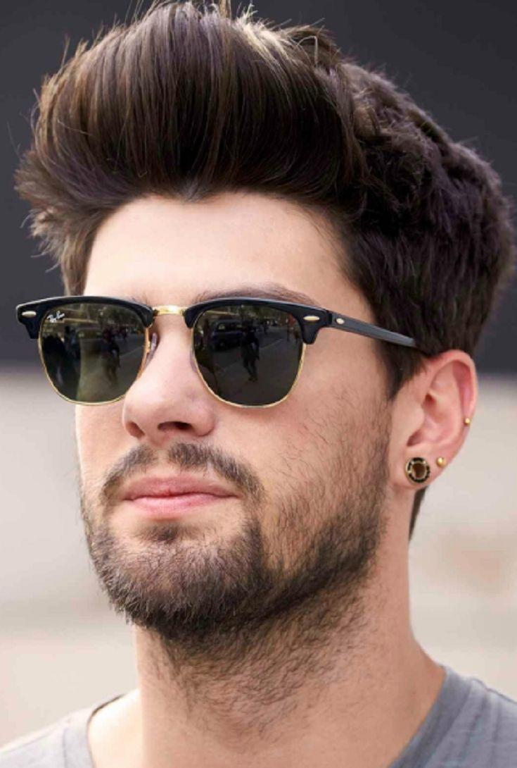 Mens Modern Quiff Hairstyle Fade Haircut