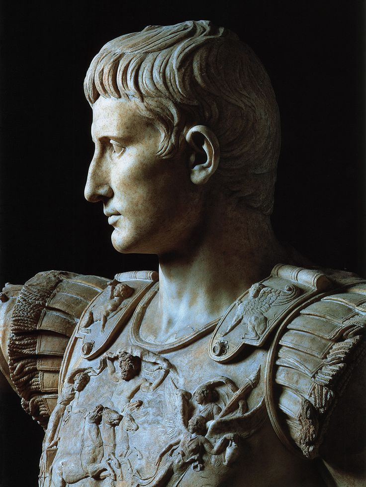 Statue of August from Prima Porta. Detail. Marble. Ca. 20—17 BCE. Inv. No. 2290. Rome, Vatican Museums, Chiaramonti Museum, New wing, 14.