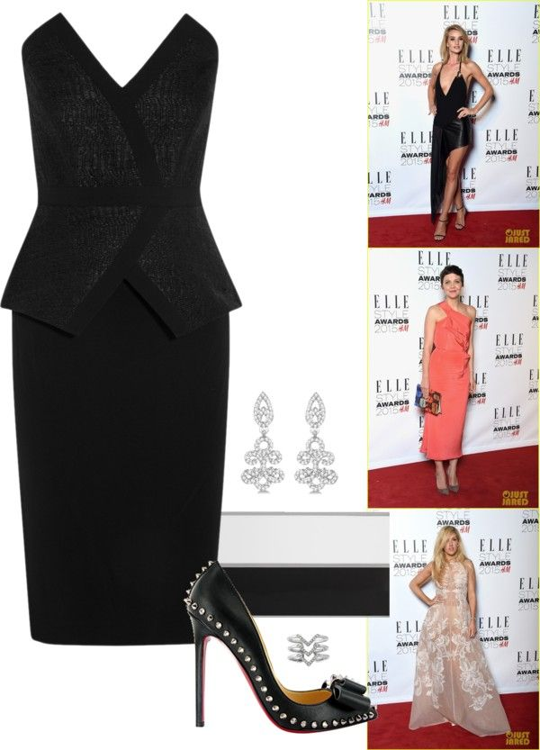 """""""2015 Elle Style Awards - Part 1."""" by foreverforbiddenromancefashion ❤ liked on Polyvore"""