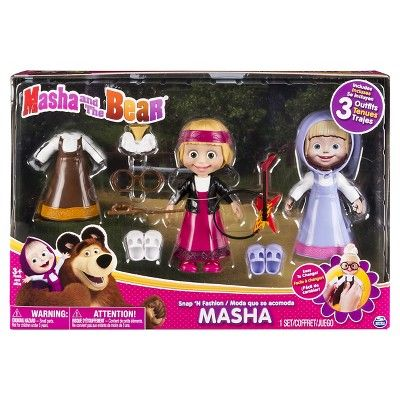 Masha and the Bear - Snap 'N Fashion 2 - Masha Doll,