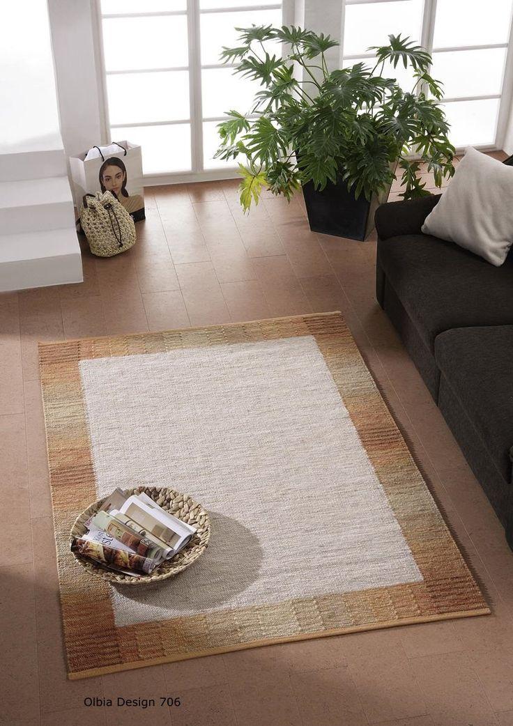 handwebteppich olbia uni col 1234 von tisca 002. Black Bedroom Furniture Sets. Home Design Ideas