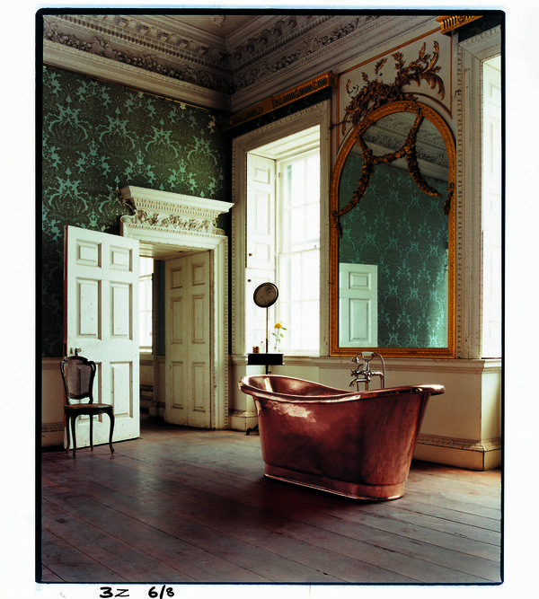 Original French double-ended copper bath with large roll, from £9500 + vat, The Water Monopoly