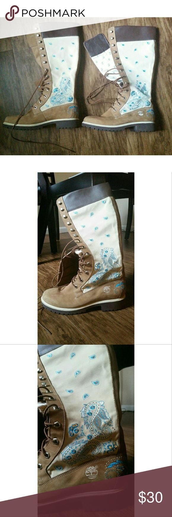 Timberland High Boots Rare Timberland Paisley boot Timberland Shoes Lace Up Boots