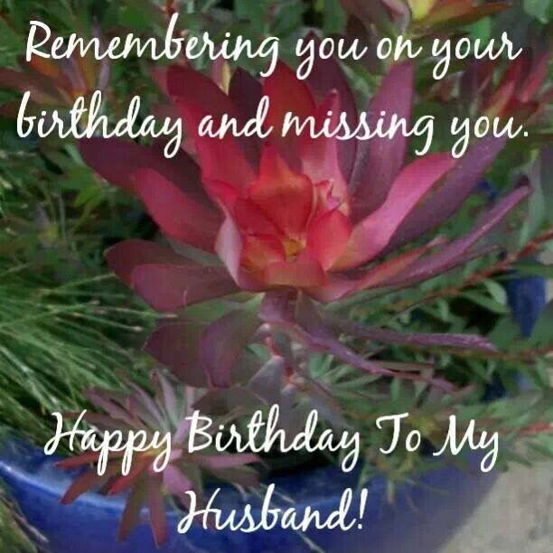 Happy Birthday My Husband Heaven Messages
