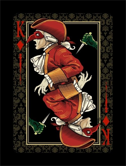 VENEXIANA dark limited Edition playing cards by Lotrek on CardLauncher.