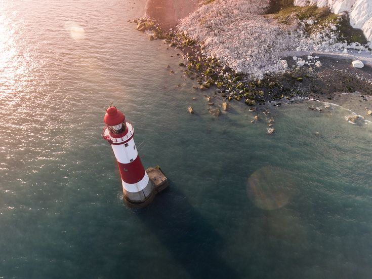 Beachy Head Lighthouse at Sunset. Flying in Eastbourne, England on an incredible sunset, we got to film the lighthouse in beautiful settings.