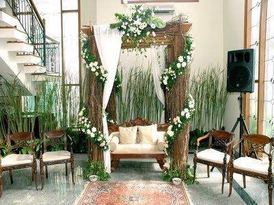 dekorasi pelaminan sweet | dekorasi pernikahan buatan