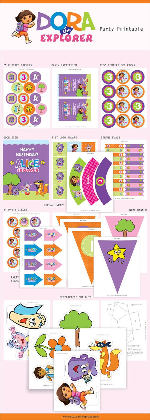 Dora the Explorer Birthday Dora the Explorer Party by Layouteria