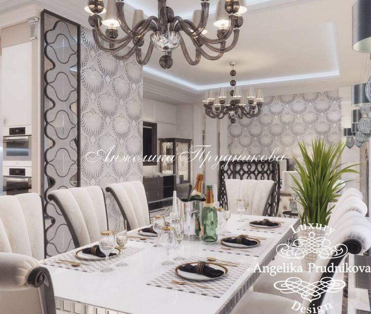 Дизайн интерьера гостиной квартиры в ЖК Резиденции Монэ - фото